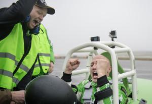 SANDEFJORD 20151105: Verdensrekordforsøk på Sandefjord Lufthavn Torp med Viking gressklipper, the worlds fastest viking. Foto: Benjamin A. Ward